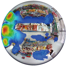 fisheye heat map